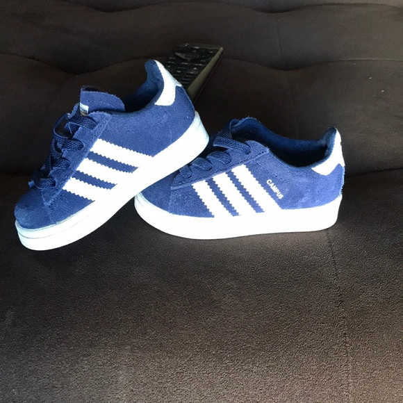 Blue Adidas Campus Baby Shoes